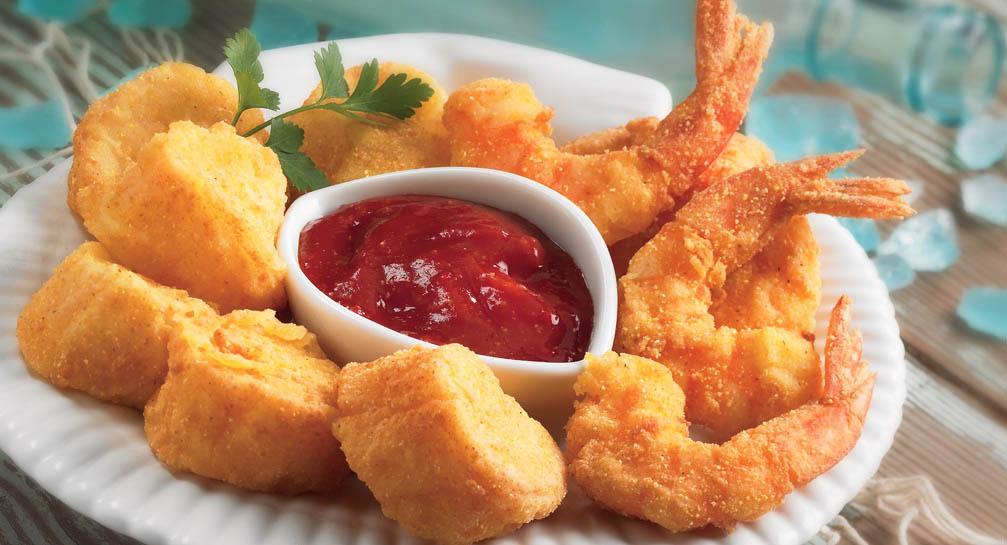 fritto di pesce e carciofi